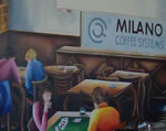 Milano Coffee Systems showroom - image of painted mural